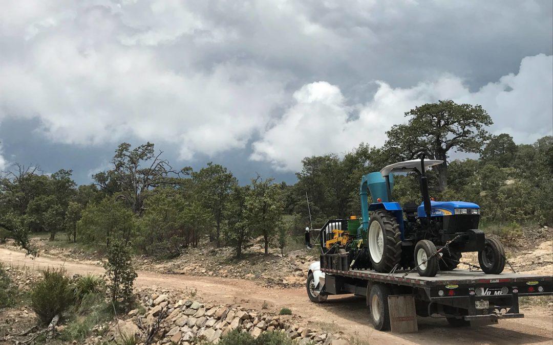 Livraison du tracteur pour San Sebastian
